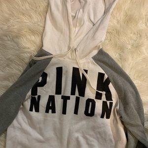 Pink nation crop hoodie!